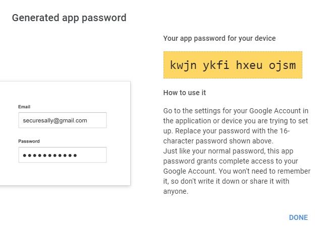 Google App Password