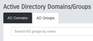 AD Groups Tab